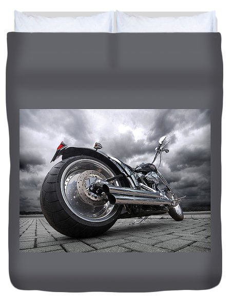 Storming Harley Duvet Cover