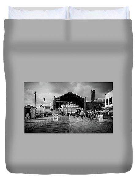Asbury Park Boardwalk Duvet Cover