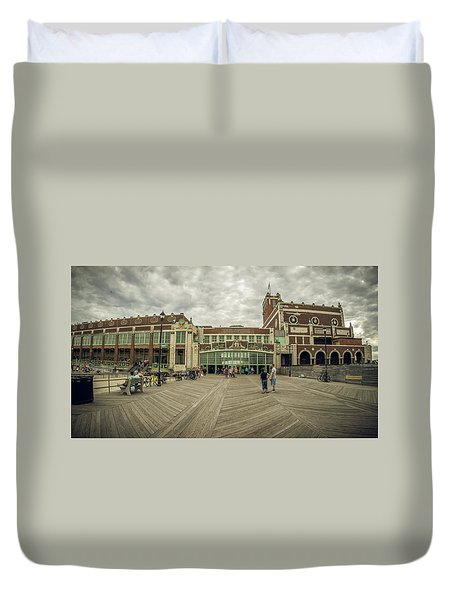 Asbury Park Convention Hall Duvet Cover
