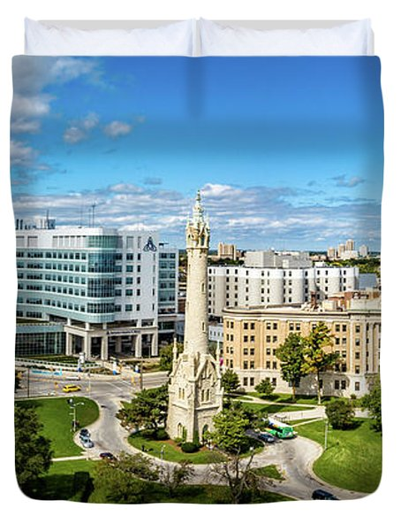 Duvet Cover featuring the photograph Ascension Columbia St. Mary's Hospital by Randy Scherkenbach