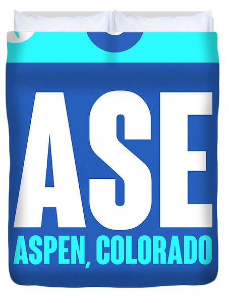 Ase Aspen Luggage Tag II Duvet Cover