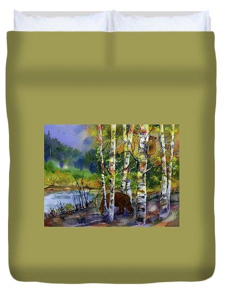 Aspen Bears #2 Duvet Cover