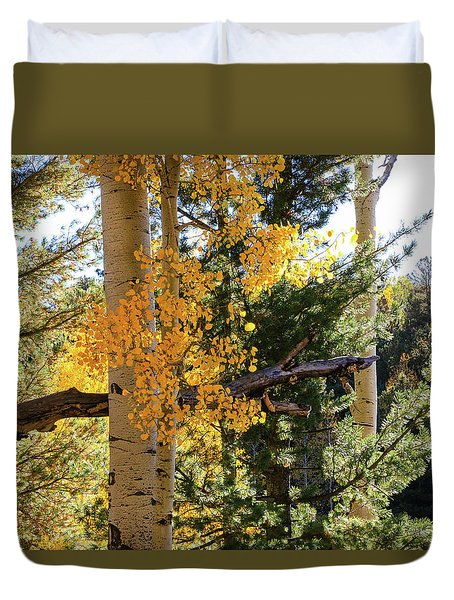 Aspen Tree Close Duvet Cover