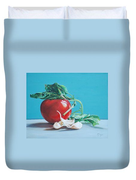 At Least We Still Have Tomatoes Duvet Cover