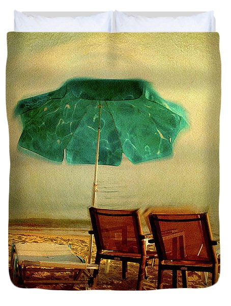 Duvet Cover featuring the photograph At The End Of The Day by Milena Ilieva