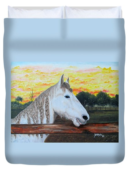 At The Farm Duvet Cover
