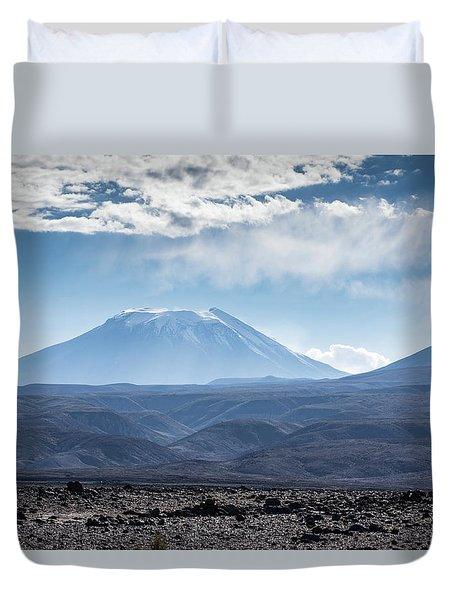 Atacama Volcano Duvet Cover