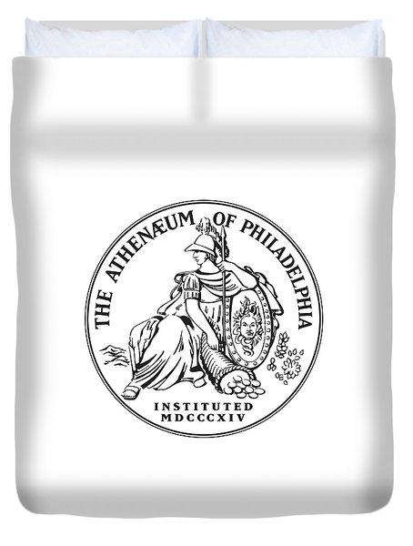 Athenaeum Of Philadelphia Logo Duvet Cover