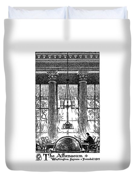 Athenaeum Reading Room Duvet Cover