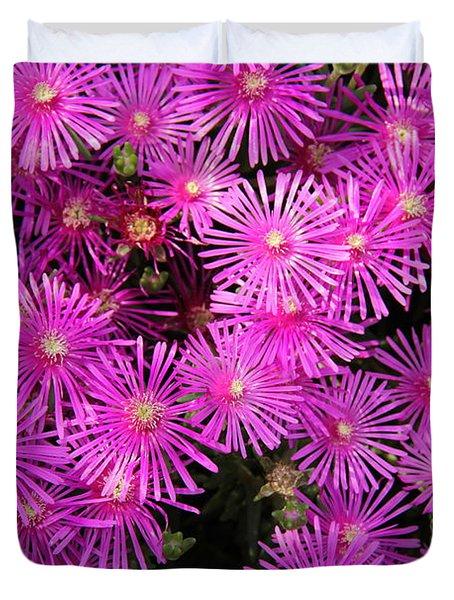 Atlanta Botanical Garden - Ice Plants Duvet Cover