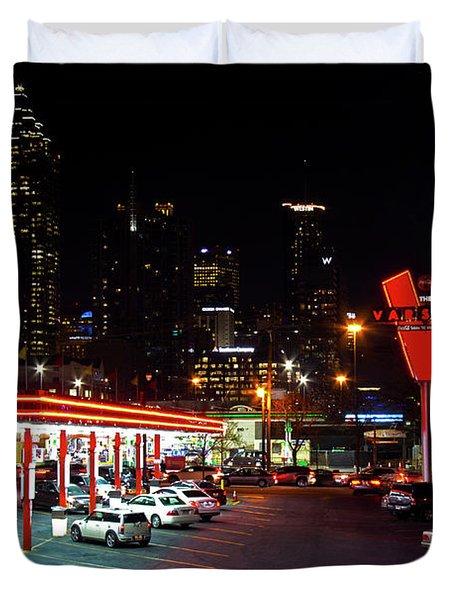 Atlanta, Georgia - The Varsity Drive-in Duvet Cover