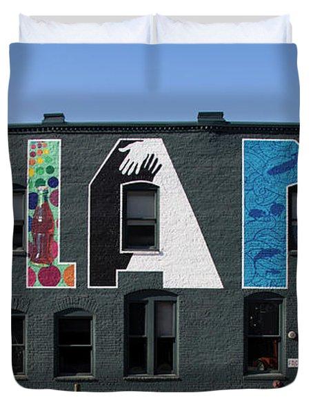 Atlanta, Georgia - Urban Art Duvet Cover