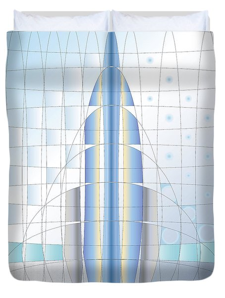 Atomic Rocket Duvet Cover