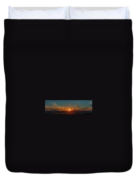 Attean Pond Sunset Duvet Cover