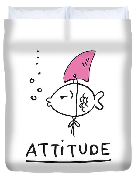 Attitude - Baby Room Nursery Art Poster Print Duvet Cover