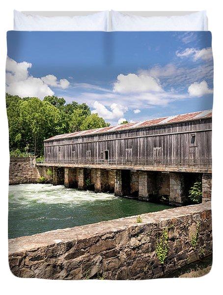 Augusta Canal Headgates - Augusta Ga Duvet Cover