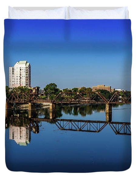 Augusta Ga Savannah River Panorama Duvet Cover