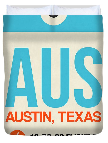 Aus Austin Luggage Tag I Duvet Cover