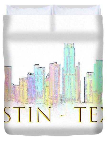 Austin Skyline Duvet Cover