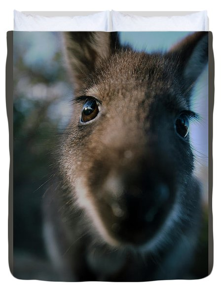 Australian Bush Wallaby Outside During The Day. Duvet Cover