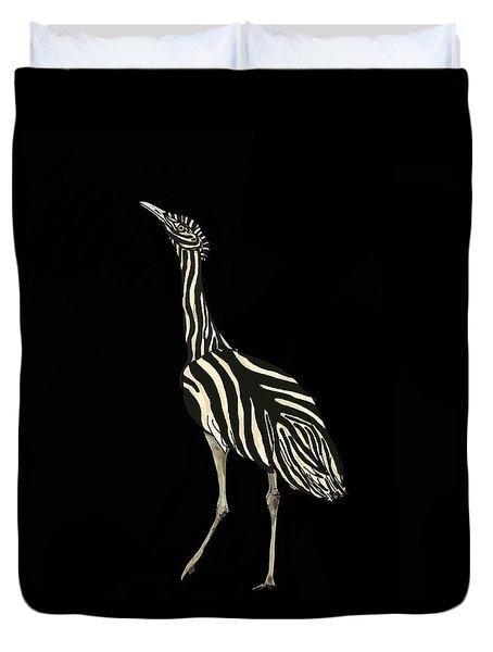 Australian Bustard Zebra 1 Duvet Cover