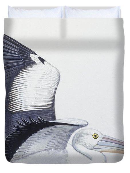 Australian Pelican  Pelecanus Conspicillatus Duvet Cover