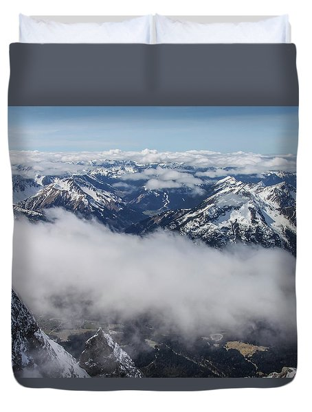 Duvet Cover featuring the photograph Austrian Alps by Dawn Richards