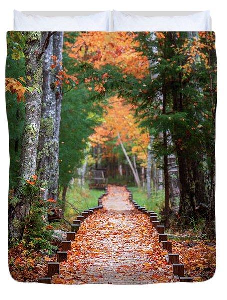 Autumn At Jesup Path Duvet Cover