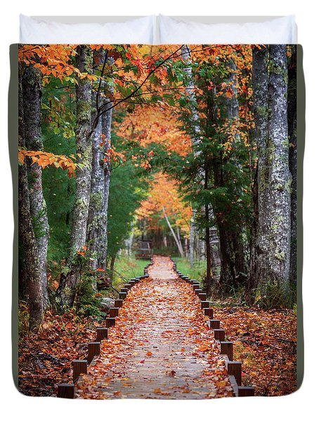 Autumn At Jesup Path Duvet Cover