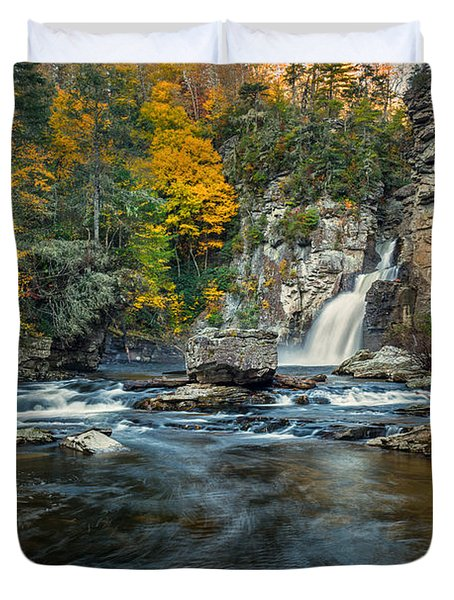 Autumn At Linville Falls - Linville Gorge Blue Ridge Parkway Duvet Cover