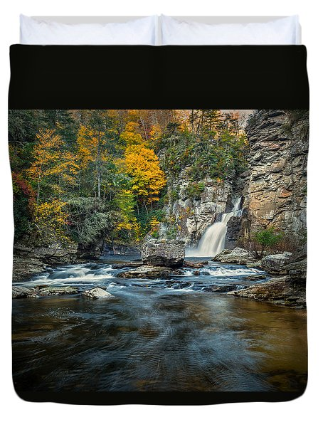 Autumn At Linville Falls - Linville Gorge Blue Ridge Parkway Duvet Cover