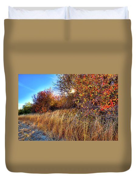 Duvet Cover featuring the photograph Autumn At Magpie Forest by David Patterson