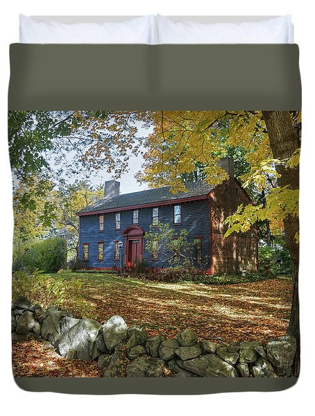 Duvet Cover featuring the photograph Autumn At Short House by Wayne Marshall Chase