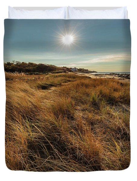 Autumn At The Beach Cape Cod Duvet Cover