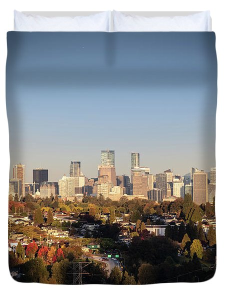 Autumn At The City Duvet Cover