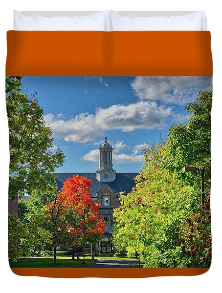 Duvet Cover featuring the photograph Autumn Beauty At Cornell University - Ithaca, New York by Lynn Bauer