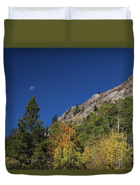 Duvet Cover featuring the photograph Autumn Bella Luna by James BO Insogna