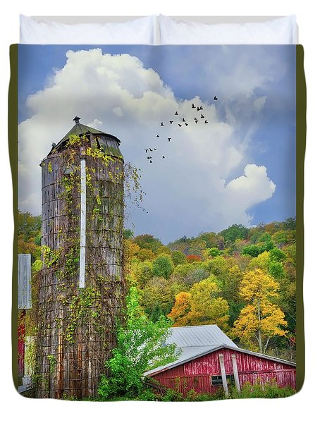 Duvet Cover featuring the photograph Autumn Bliss On The Farm - Finger Lakes, New York by Lynn Bauer