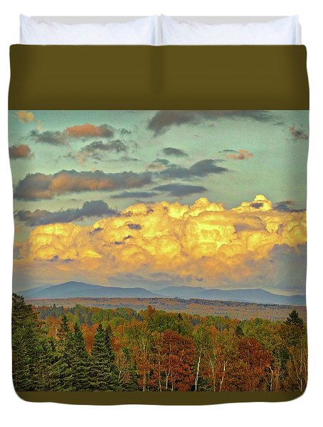Autumn Clouds Over Maine Duvet Cover