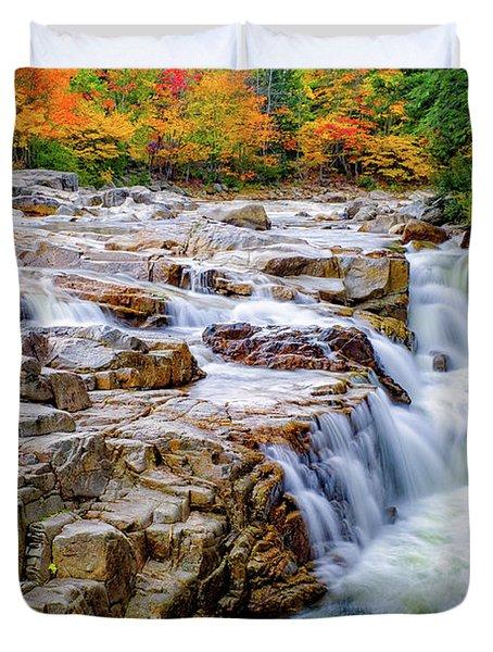 Autumn Color At Rocky Gorge Duvet Cover