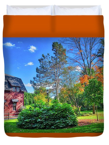 Duvet Cover featuring the photograph Autumn Days On Campus At Cornell University - Ithaca, New York by Lynn Bauer