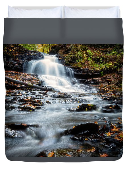 Duvet Cover featuring the photograph Autumn Days by Russell Pugh