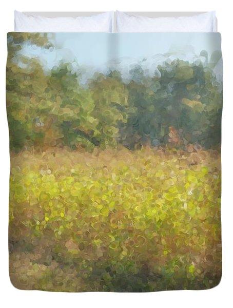 Autumn Field In Sunlight Duvet Cover