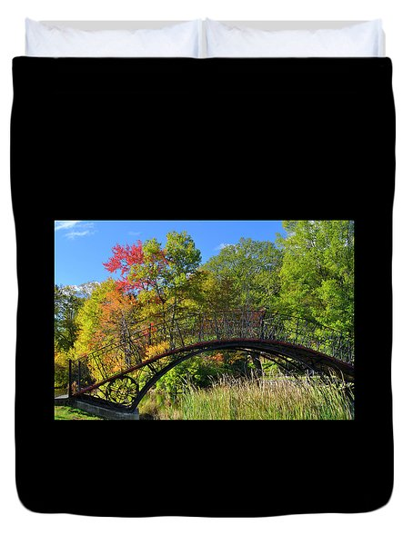 Autumn Footbridge Duvet Cover