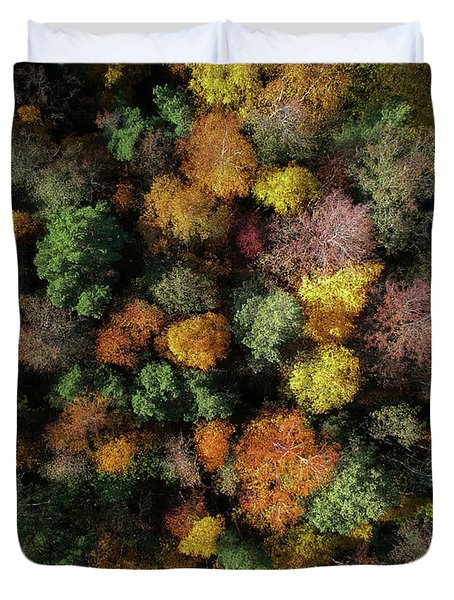Autumn Forest - Aerial Photography Duvet Cover