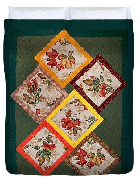 Autumn Fruit And Leaves Duvet Cover