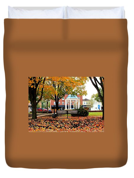 Duvet Cover featuring the photograph Autumn Gatherings  by Candice Trimble