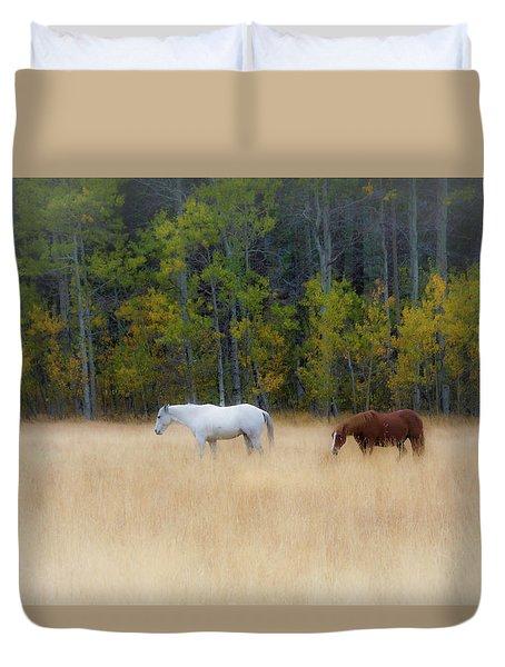 Autumn Horse Meadow Duvet Cover