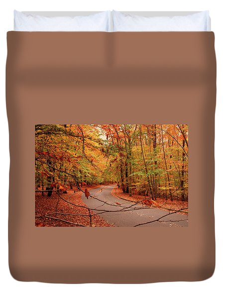 Autumn In Holmdel Park Duvet Cover