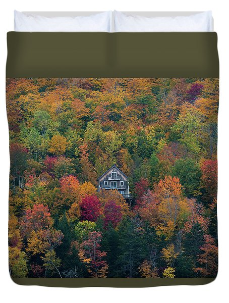 Autumn In Maine Duvet Cover